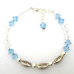 Faith Hope Love Beaded Bracelet