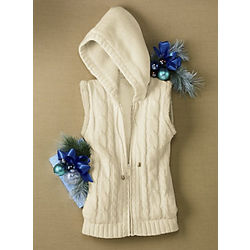 Misses Hooded Sweater Vest