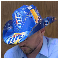 Miller Lite Beer Box Cowboy Hat