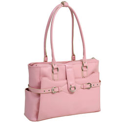 Willow Springs Leather Briefcase in Pink