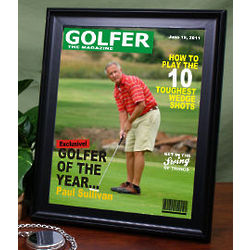 Personalized Framed Golfer Magazine Cover