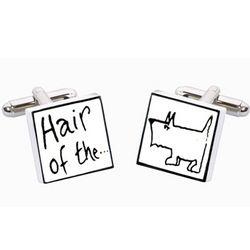 Hair of the Dog Bone China Cufflinks