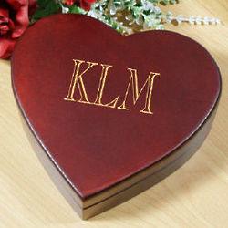 Single Name Heart Jewelry Box