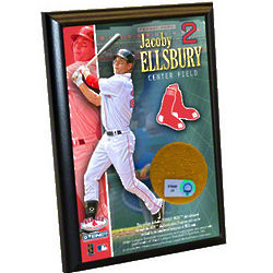 Jacoby Ellsbury Boston Red Sox 4x6 Plaque with Game Used Dirt