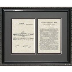 Submarine Framed Patent Art