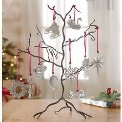 Ornament Tree with Pewter Ornaments