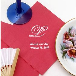 Personalized Luncheon Wedding Napkins