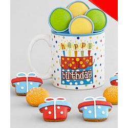 Happy Birthday Mug With Mini Cookies - Free Weekday Shipping!