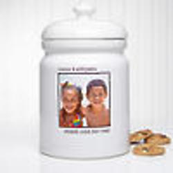 Picture Perfect Single Photo Personalized Cookie Jar