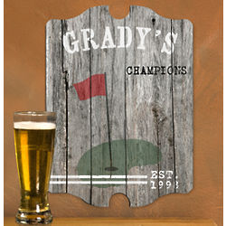 Vintage-Style Man Cave Golf Sign