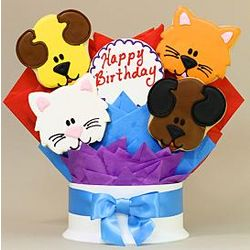 Doggone Purrfect Happy Birthday Cookie Bouquet