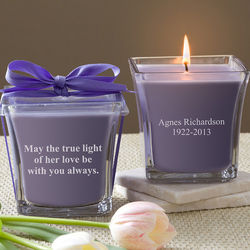 In Memory Lavender and Linen Scented Candle