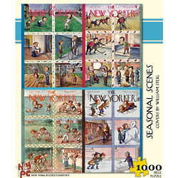 Seasonal Scenes New Yorker 100-Piece Puzzle