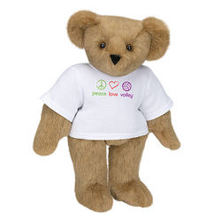 "15"" Peace, Love, Volley T-Shirt Teddy Bear"