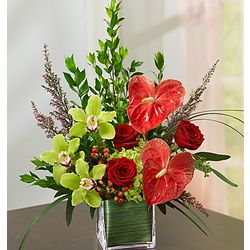Forever Yours Anthurium and Orchids Bouquet