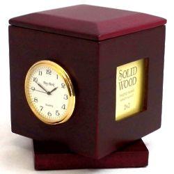 Engravable Revolving Cube Clock
