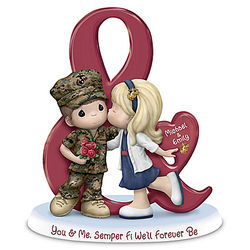 You & Me, Semper Fi We'll Forever Be Personalized Figurine