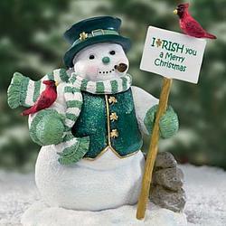 Merry Christmas In Irish.Irish You A Merry Christmas Irish Snowman Figurine