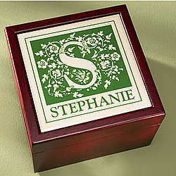 Personalized Initial Tile Box