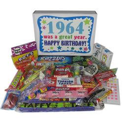 50th Birthday 1964 Retro Candy Birthday Box