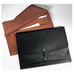 Horizontal Leather Manila Folder