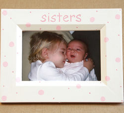 Hand Painted Sisters Picture Frame