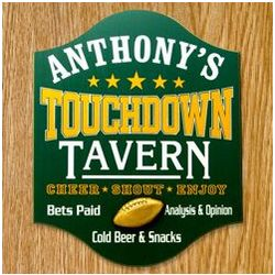 Touchdown Tavern Personalized Sign