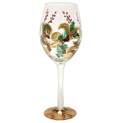 Holiday Berry White Wine Glass