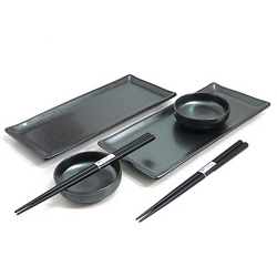 Crystal Black Sushi Set for Two