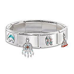 Native-American Inspired Sacred Spirits Italian Charm Bracelet