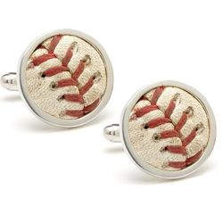 San Francisco Giants Authenticated Baseball Stitches Cufflinks