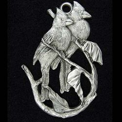 Cardinal Pewter Christmas Ornament