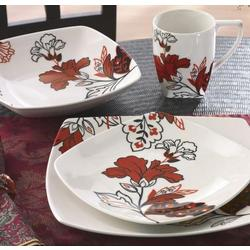 Velvet Bouquet 16 Piece Dinnerware Set