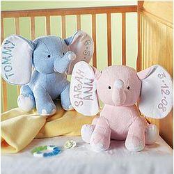 Small Plush Baby Elephants