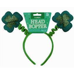 St. Patrick's Day Head Bopper Shamrock with Glitter