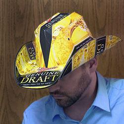 Miller Genuine Draft Beer Box Cowboy Hat