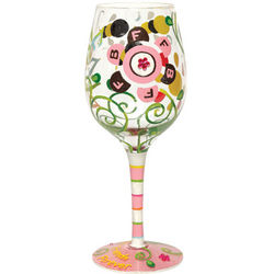 Hand-Painted BFF Wine Glass