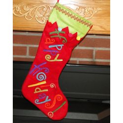 Happy Holidays Personalized Christmas Stocking