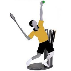 Tennis Player Pen Holder and Desk Sculpture