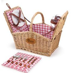 New England Patriots Piccadilly Willow Picnic Basket