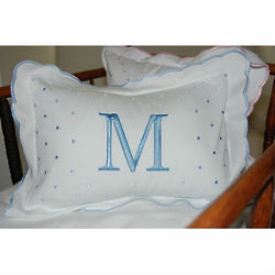Monogrammed Scalloped Baby Pillow