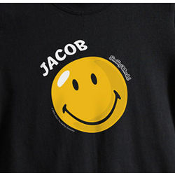Kid's Personalized Smiley Face T-Shirt