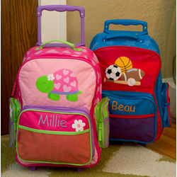 Personalized Toddler Rolling Luggage