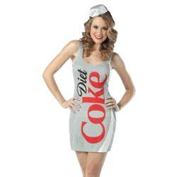 Adult Diet Coca Cola Dress Costume