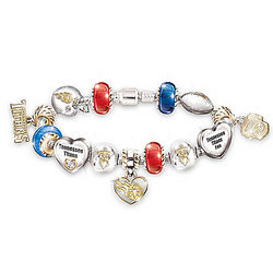 Tennessee Titans Charm Bracelet with Swarovski Crystals