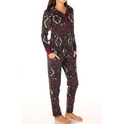 Southwest Pattern Microfleece Jumpsuit