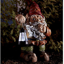 Solar Gnome with LED Light