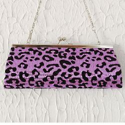Alluring Sequined Leopard Print Mini Clutch Bag