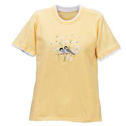 Raindrop Chickadees T-Shirt