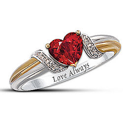 Heart's Embrace Personalized Couple's Ring
